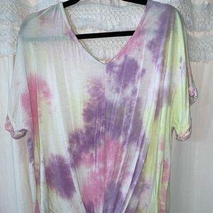 Tie-dye short sleeve shirt